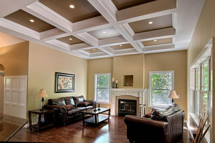 Living Room Crawford Ceilings Custom Home Builders