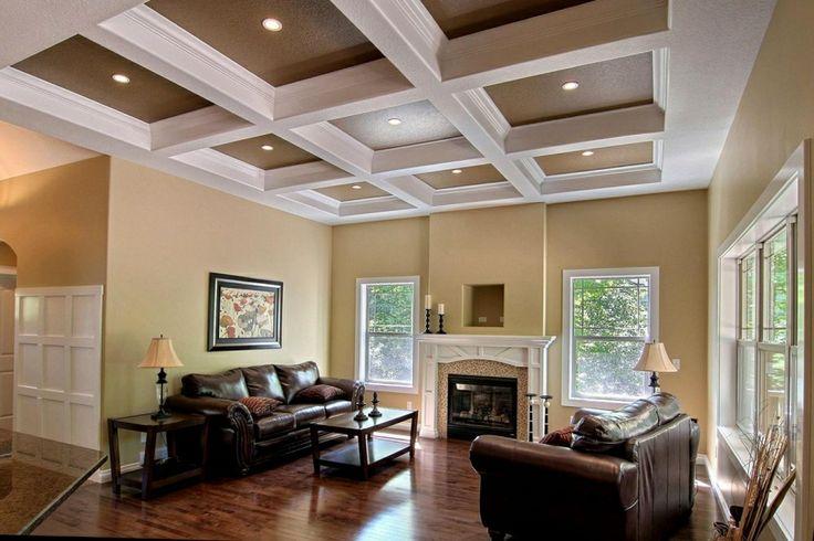 Living Room Crawford Ceilings Custom Home Builders