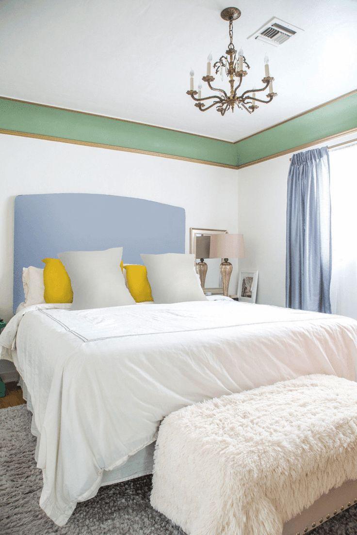 Além de simplesmente usar estampas na decoração, saber combiná-las entre si imprime ainda mais estilo e qualidade para o seu ambiente. Vejam como esse quarto está lindamente decorado com as cores lisas, mas ganha mais personalidade e até sofisticação com as diferentes estampas.