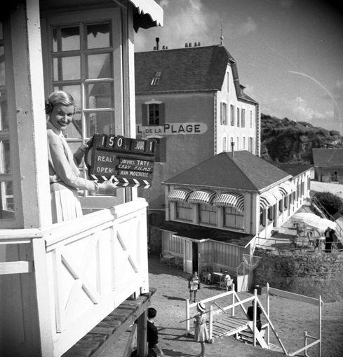 Saint-Marc-sur-Mer, premier jour de tournage. 1951  Photographie de tournage © Les Films de Mon Oncle.