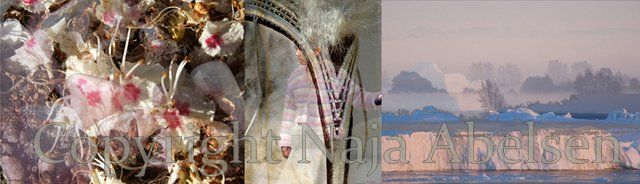 "Photography Triptych ""Inner Seeing and Listening"" a digital collage by Naja Abelsen"