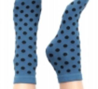 Sneaky Fox Pin up socks Danish design Misty Blue one size