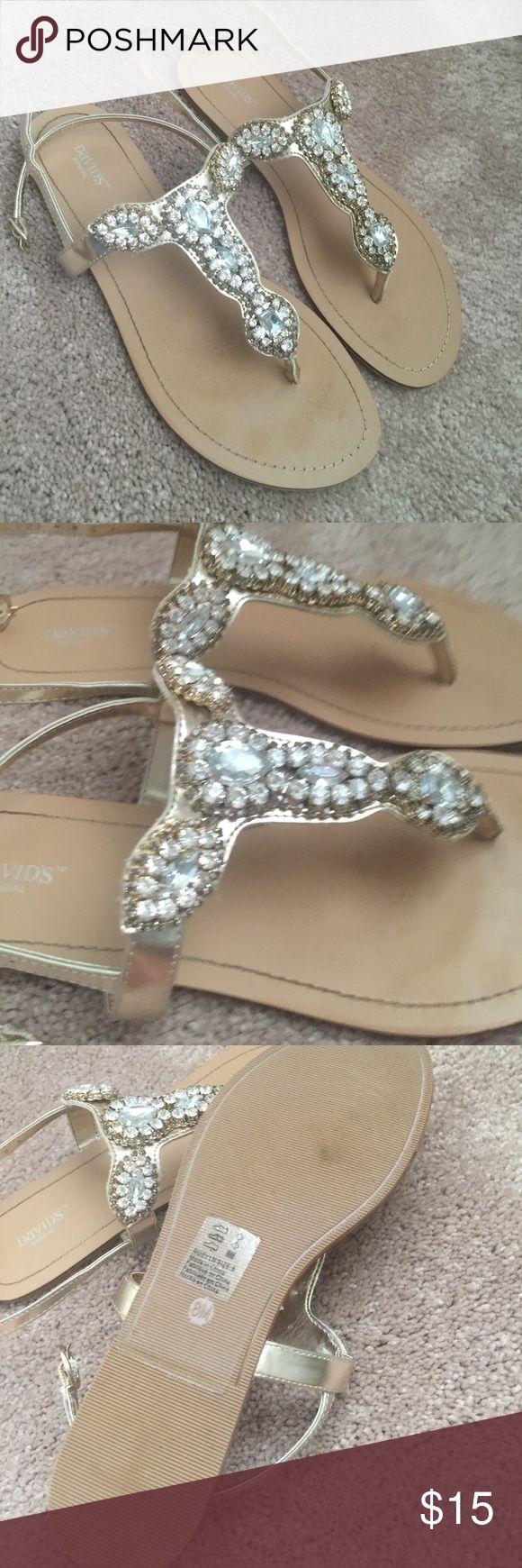 Sandals honeymoon shoes with rhinestone - Rhinestone Sandals Davids Bridal Shoeswedding