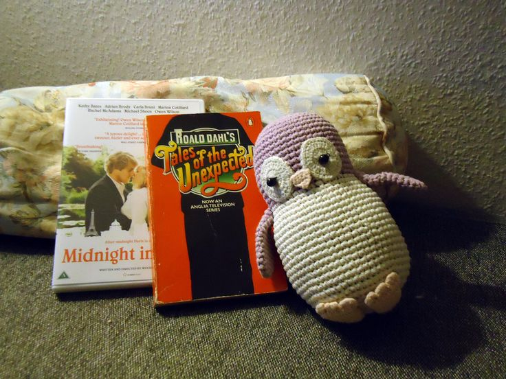 Knitted penguin found in second hand shop along with other treasures # Feb. 2016 #KET