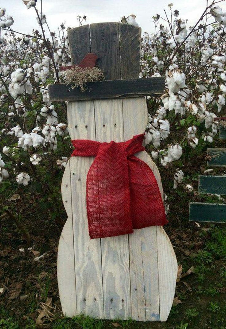 DYI wooden snowman
