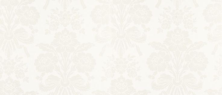 Tatton White Damask Wallpaper at Laura Ashley