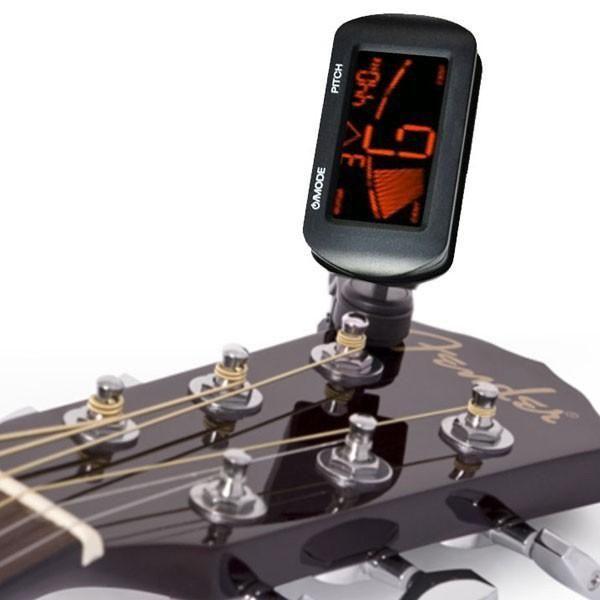 AT-101 AROMA Mini Taille Clip Type Instrument Guitare Accordeur Guitare Basse Ukul/él/é Electrique Clip num/érique Accordeur