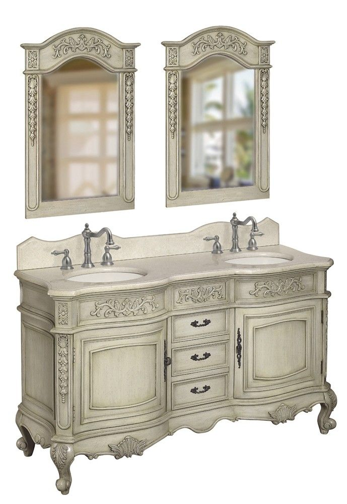 Belle Foret Double Basin Vanity In Antique Parchment Traditional Bathroom  Vanities And Sink Consoles