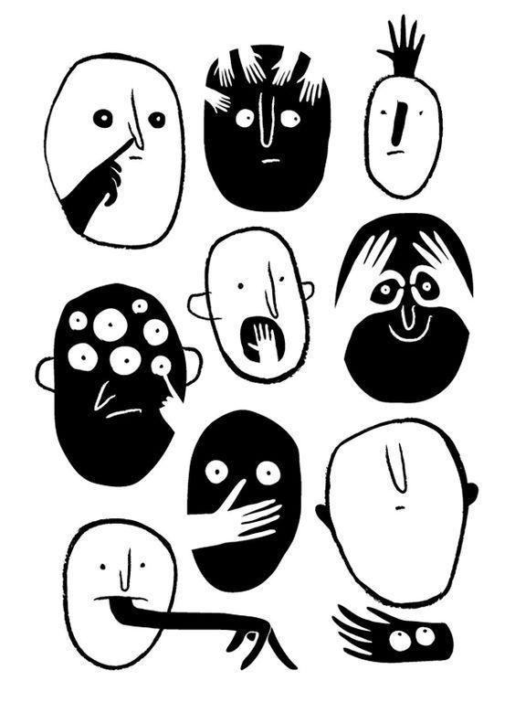 Visages by Marie Mainguy, via Behance: