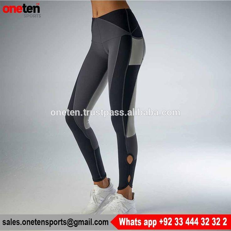 Grey Women Sport Yoga Leggings Seamless Running Gym Tights - Seamless Leggings- Ladies Gym Wear