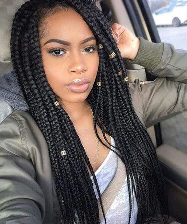 Braided Hairstyles For Black Women summer beach pool protective natural hairstyles Long Braided Hairstyles Wigs For Black Women African American Human Hair Lace Front Wigs