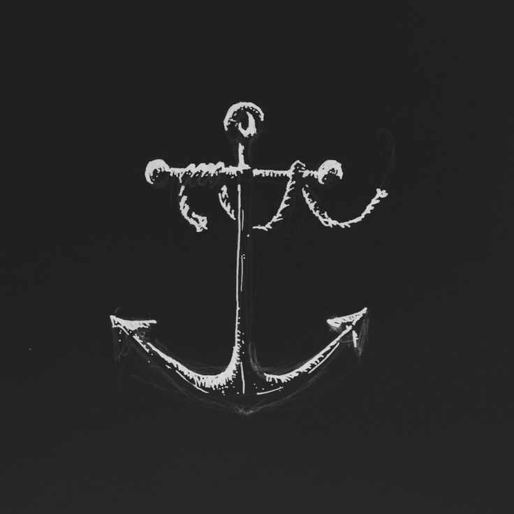 Inverted anchor drawing.