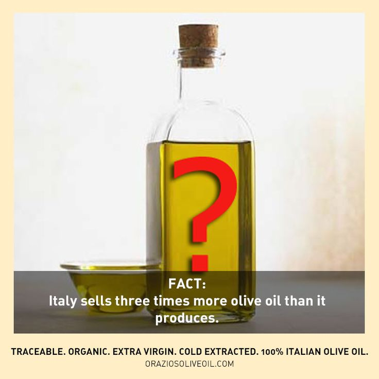 Fact: Italy sells three times more olive oil than is produces... think about that for a second. Is your #evoo really Italian?