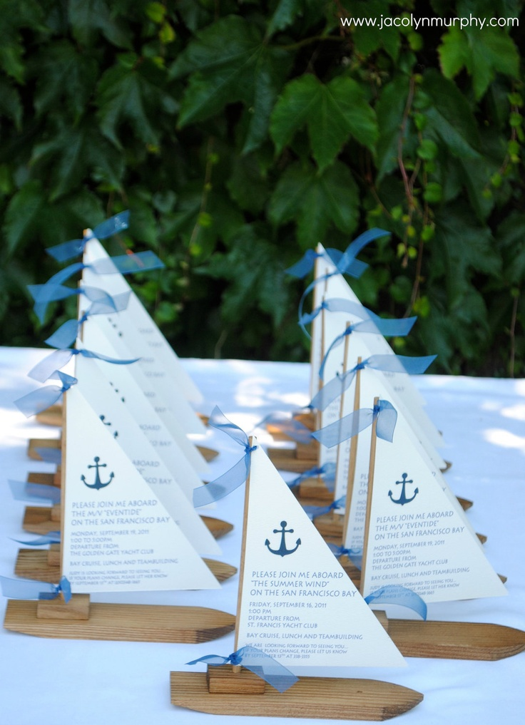 Personalized Mini Wooden Sailboats-set of 5