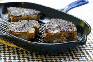sirloin steak (called faux-filet or entrecôte in French