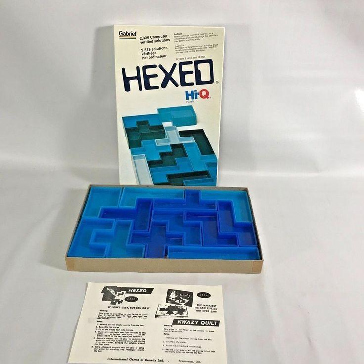 Hexed Hi-Q Puzzle International Games Canada 1977 Vintage Gift Brain Teasers Box #Gabriel