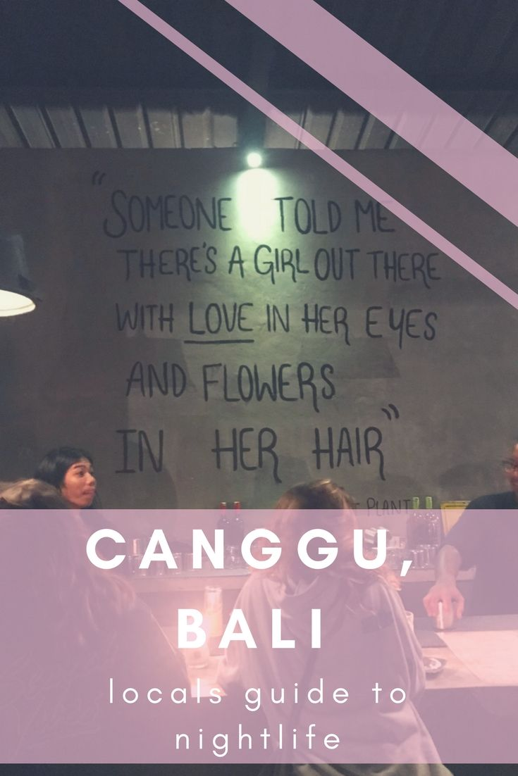 Canggu, Bali. Guide to nightlife, bars clubs, and beach clubs in Canggu Bali. Local's guide to Canggu.