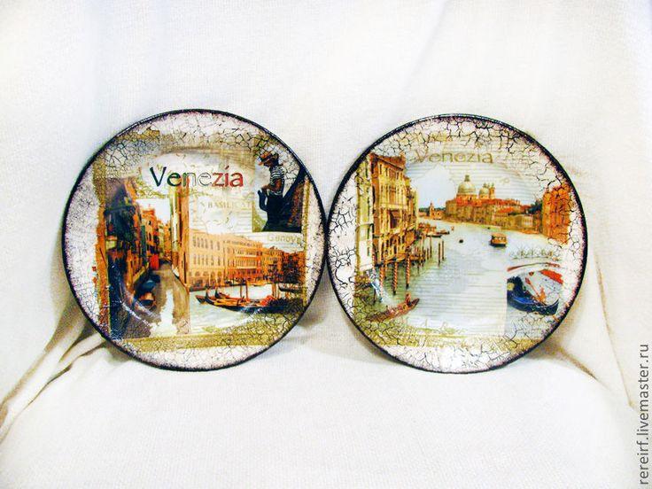 """Купить Тарелки """"Венеция"""" - тарелка, декоративная тарелка, Настенная тарелка, тарелка сувенирная, подарочная тарелка"""