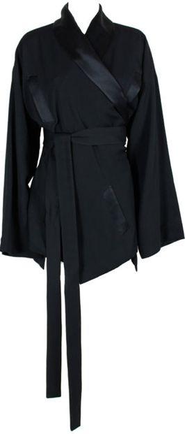 ^ Vintage Jean Paul Gaultier wool and silk tuxedo-style kimono