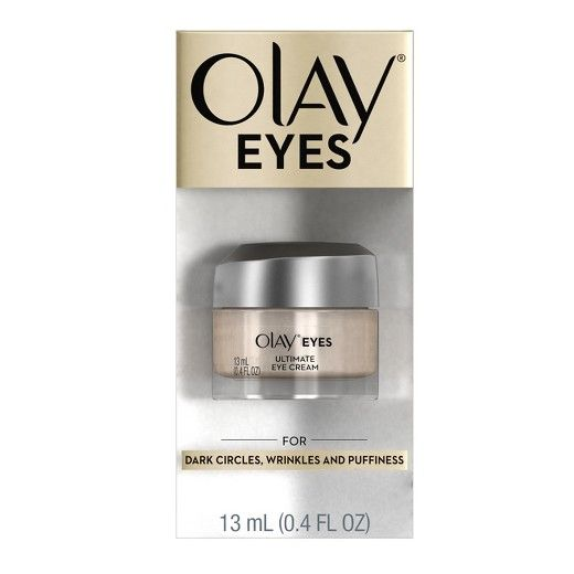 Fight dark circles, wrinkles and puffy eyes in an instant with Olay Eyes Ultimate Eye Perfecting Cream. This 3-in-1 Decircler, DeWrinkler & DePuffer instantly reduces the appearance of fine lines and wrinkles. Supercharged with peptides and vitamins, it renews skin's surface over time and reduces puffiness by massaging onto skin. Formulated with Olay's color-correcting technology, it acts as a touch of concealer that matches all skin tones. The powerful formula hydrates to s...