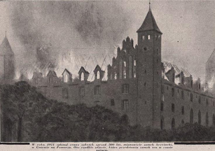 Muzeum Archeologiczne w Gdańsku oddział w Gniewie (Zamek Krzyżacki), Gniew - 1921 rok, stare zdjęcia