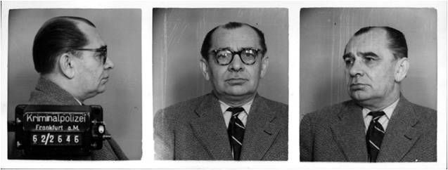 On 11 September 1942 the SS medical officer (Sanitätsdienstgrad - SDG) SS-Oberscharführer Josef Klehr killed the Dutch Jew Heiman Kohen (camp no. 52425) with a poker in the corridor of Block 20 of the prisoners' infirmary. He sent the body of the murdered man to the morgue in the cellar of Block 28. Finally, he ordered a death registration made out stating that Kohen died a natural death.  In the picture: the police mugshot of Josef Klehr from 1960s,