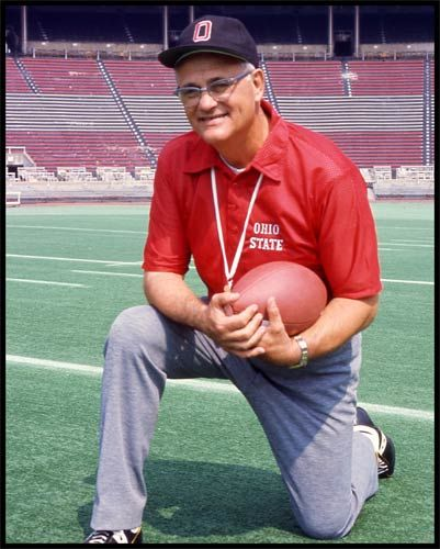 Ohio State Buckeyes Wood Mounted Poster Print - Woody Hayes Kneeling 1976