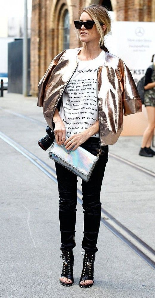 metallic jacket for fall