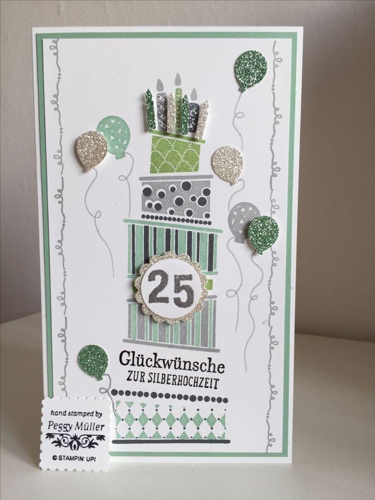 Silberhochzeit mit Cake Crazy von Stampin up Created by Peggy Müller