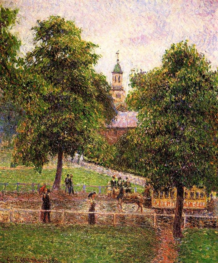 Church at Kew.1892 by Camille Pissarro
