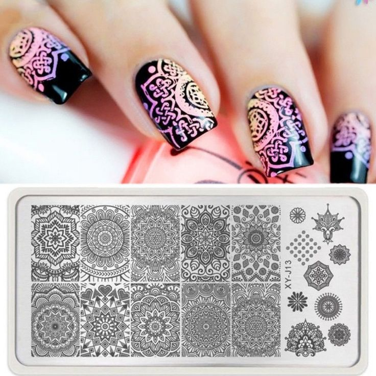 1 x Manicure Floral Design Tools Mandala Nail Stamping Plate Nail Art Women Lady