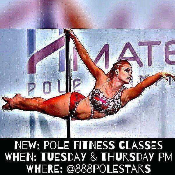 I start teaching pole fitness classes at @888polestars tomorrow and every Tuesday & Thursday to come!! 💃🏼Message me for more details📩Classes are from 7-8pm. Come play with me!🤗🐒🐥🤸🏼♀️ #polefitness #poledance #poledancemiami #polelife #learntopoledance #miamilife #miami #hollywoodfl #aerialfitness ( #📷 @_priskilla21 via @latermedia )  ☀ ☀ ☀ #HollywoodTapFL #HollywoodFL #HollywoodBeach #DowntownHollywood #Miami #FortLauderdale #FtLauderdale #Dania #Davie #DaniaBeach #Aventura…