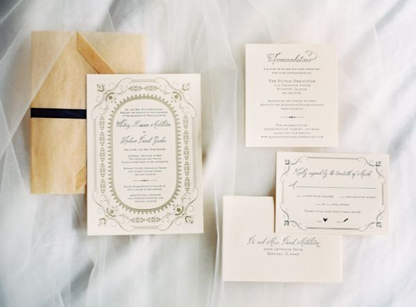 Elegant Letterpress Stationery | photography by http://www.claryphoto.com/