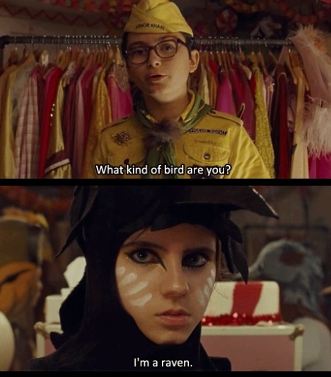 Moonrise Kingdom.. what kind of bird are you... (she reminds me of Francis Bean Cobain, and Francis Bean Cobain looks like Ginnifer Goodwin to me)