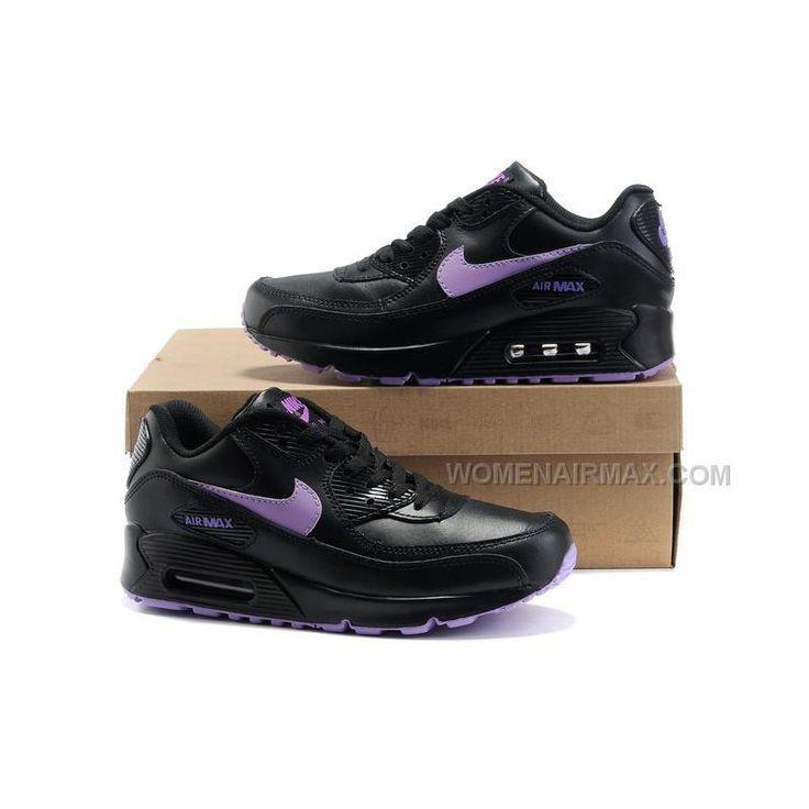 Nike Air Max 90 Womens Shoes Wholesale Black Purple