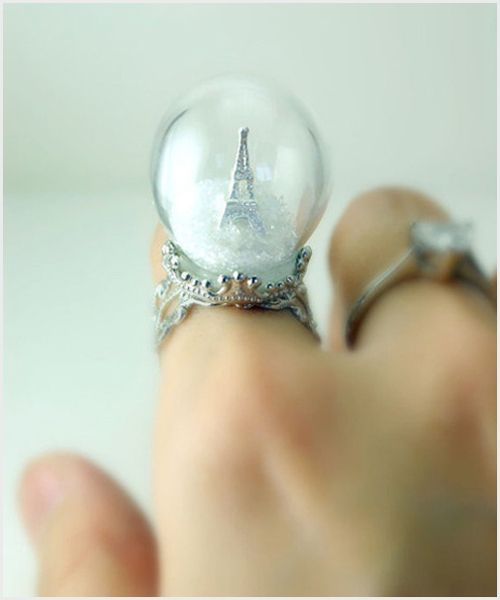 take it with you alwaysParis, Dreams, Snow Globs, Eiffel Towers, Fingers, Snow Globes, Fashion Rings, Globes Rings, Crystals Ball