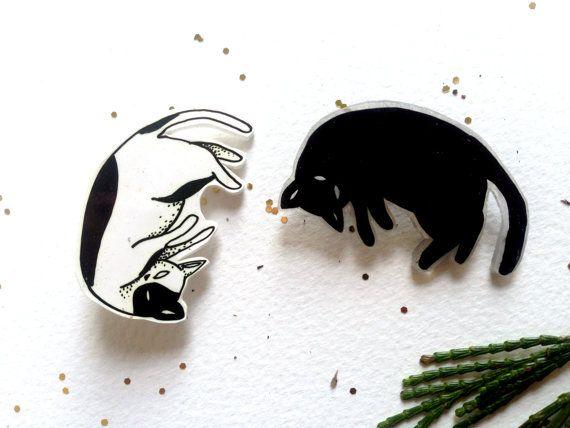 Floating Cat Pins van MegAmore op Etsy