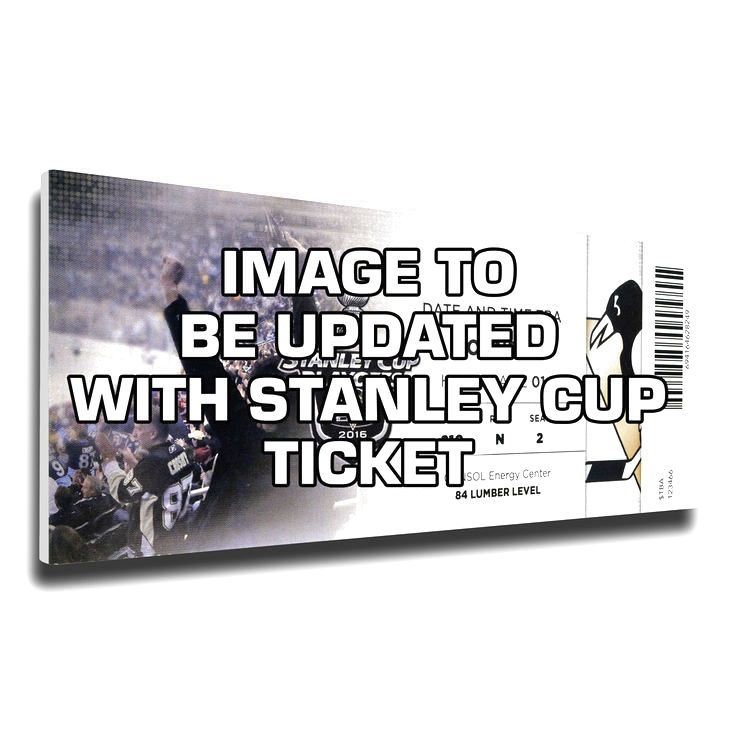 """Pittsburgh Penguins 2016 Stanley Cup Finals 14"""" x 33"""" Game 1 Mega Ticket Canvas - $63.99"""