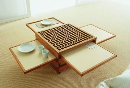 Expandable Table by Sculptures Jeux: Center Tables, Small Tables, Coffee Tables, Dinners Table, Coff Tables, Small Rooms, Spaces Save, Small Spaces, Dining Tables