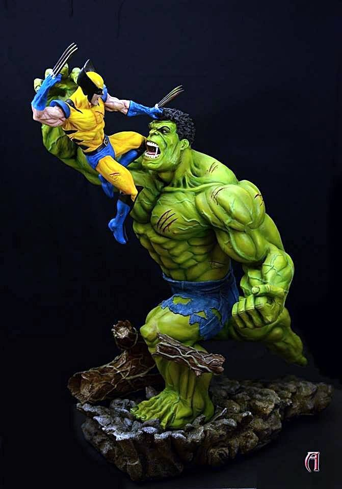 Miniaturas e Colecionismo - Hulk Vs. Wolverine