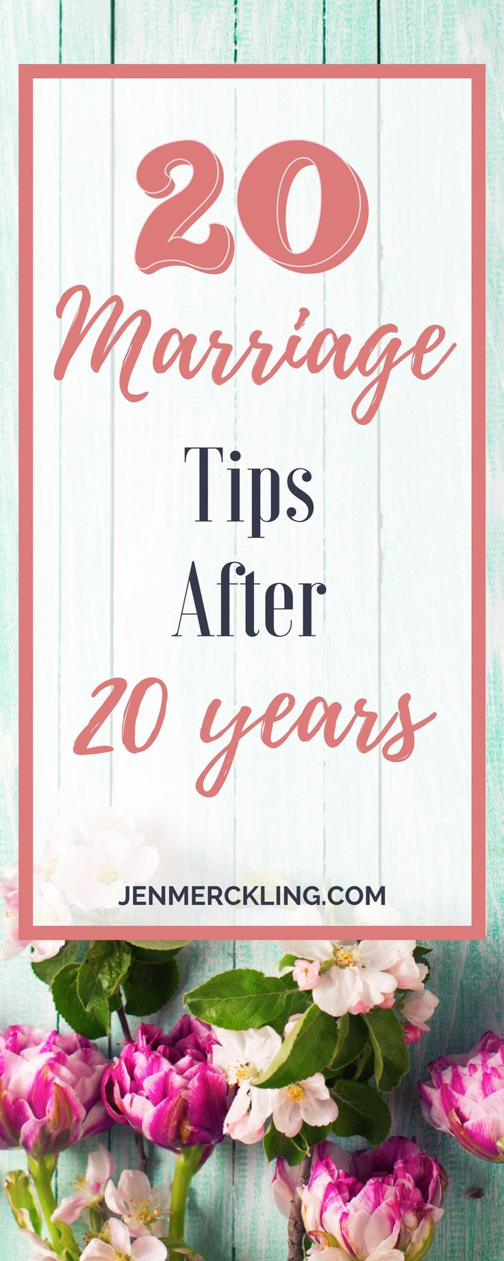 Last summer we celebrated our 20th Wedding Anniversary, and I wanted to share some reflections on what we've learned over the years! Hope some of the tips help you--or at least make you smile!
