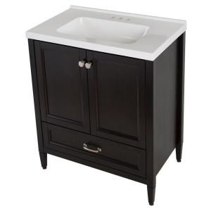 Home Decorators Collectionclaxby 30 In Vanity In Charcoal With Cultured Marble Vanity Top In
