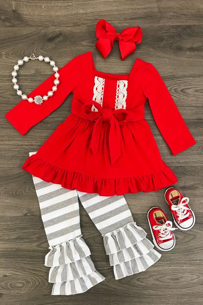 Red and Gray Boutique Outfit  1f5d8832a