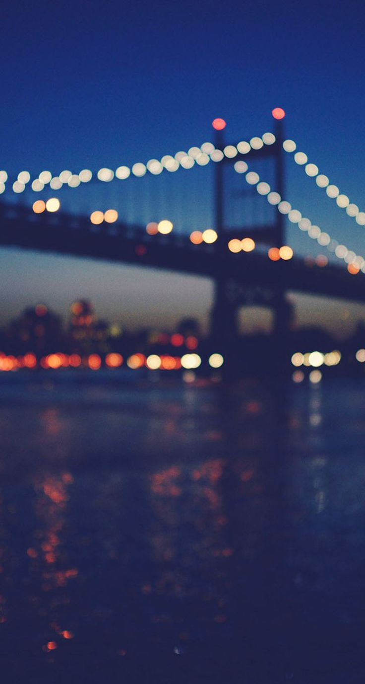 Night sky iphone wallpaper tumblr - New York City Manhattan Bridge Night Light Bokeh The Iphone Wallpapers