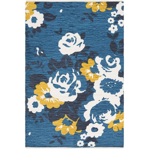 Elaine Carter Blue Rectangular: 4 Ft. x 6 Ft. Rug - (In No Image Available)