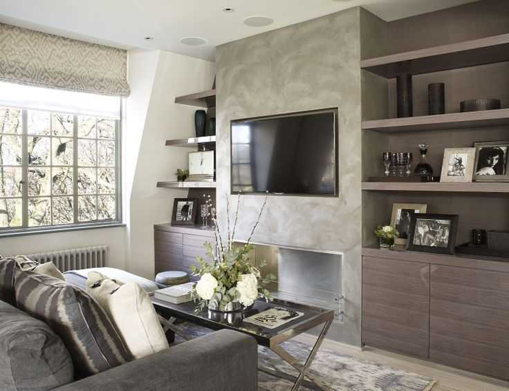 Tv feature wall in sitting area by the olive design studio for Feature wall ideas living room tv