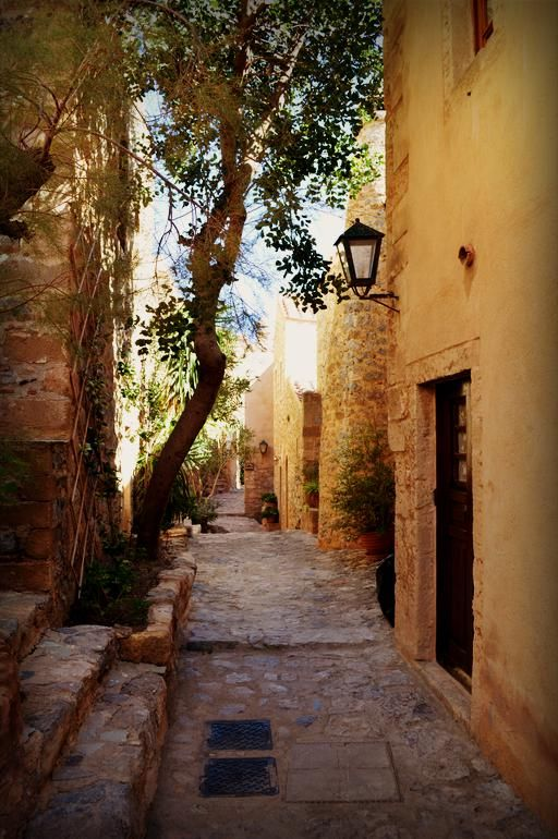A typical neighborhood in Monemvasia, Greece