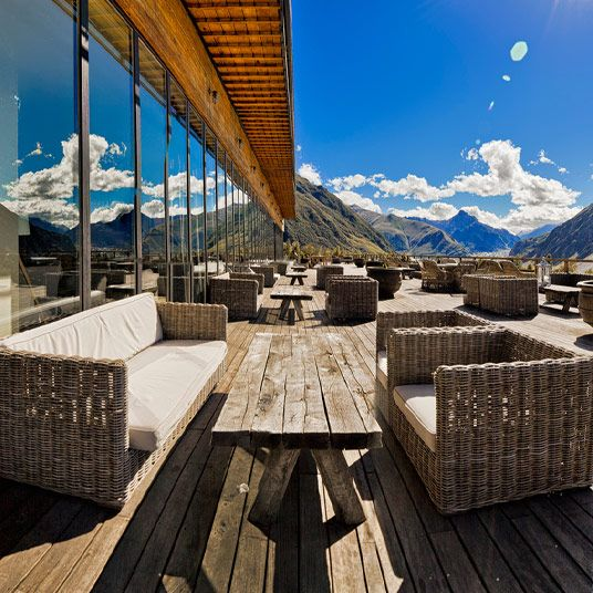 Rooms Hotel Kazbegi is a luxury boutique hotel in Stepantsminda, Georgia. View our verified guest reviews and online special offers for Rooms Hotel Kazbegi, Stepantsminda at Tablet Hotels.