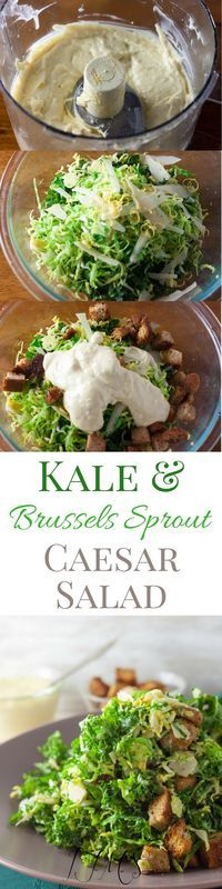 Making salads is simple and I hope that not only will you enjoy this Kale and Brussel Sprout Caesar recipe but take it as inspiration to spruce up classic dishes you like!