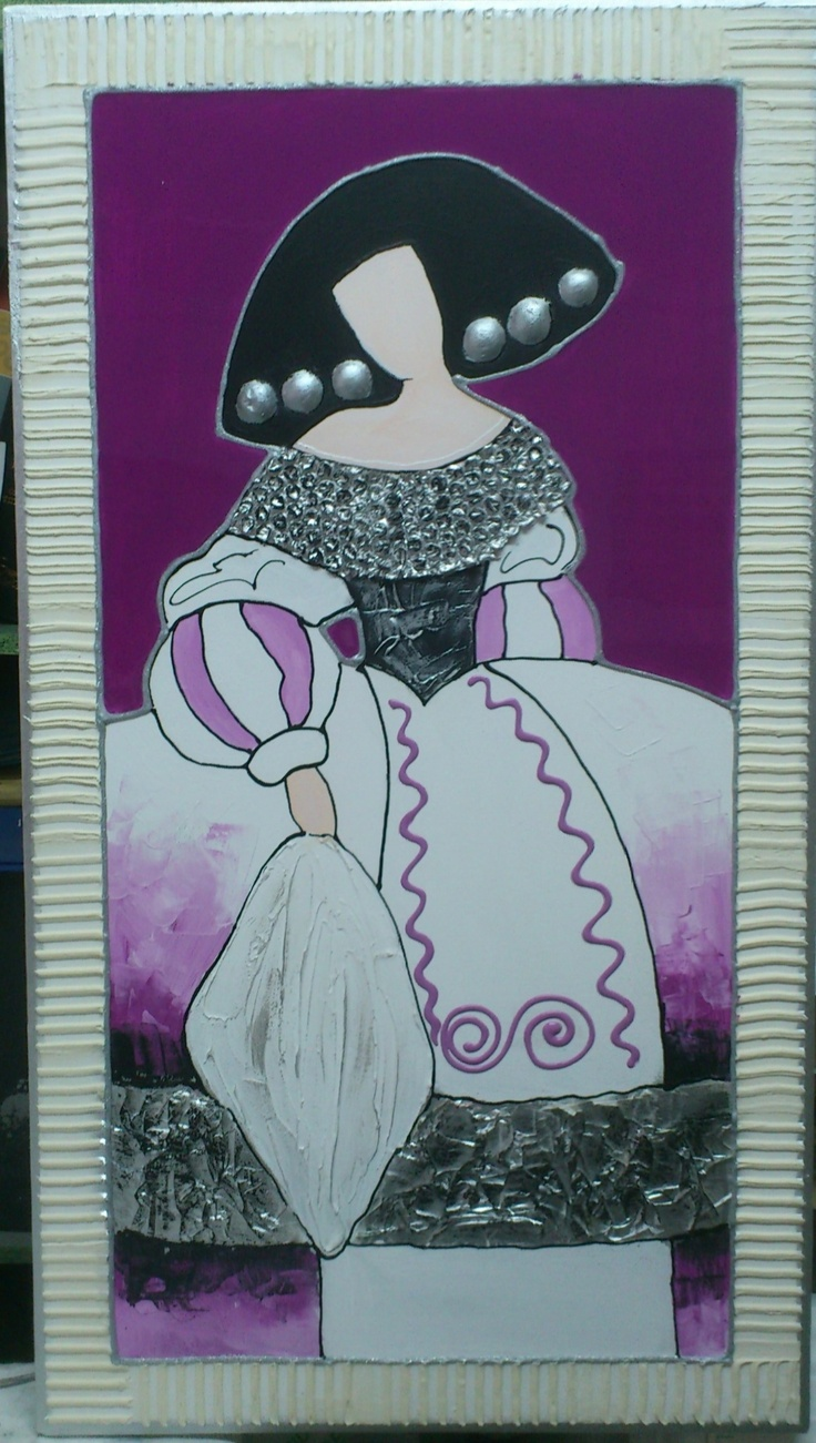 Menina, cuadro,art, acrylic ,Painting